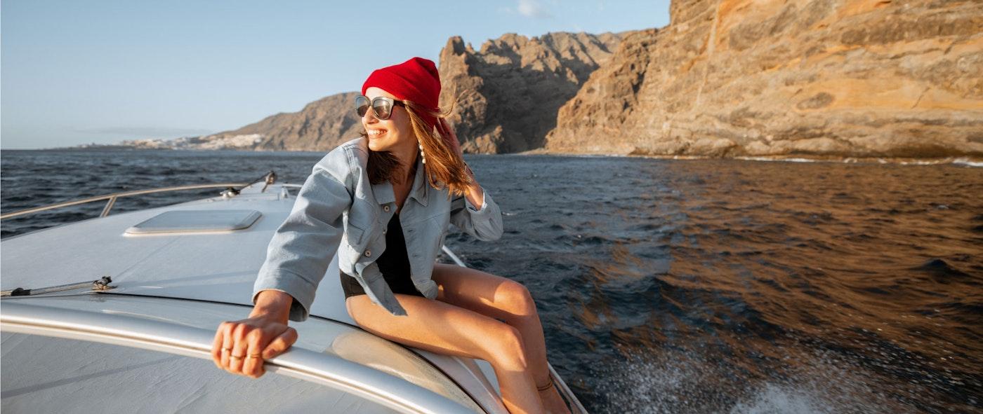 Woman on Yacht
