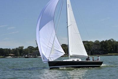 tartan fantail sailboat